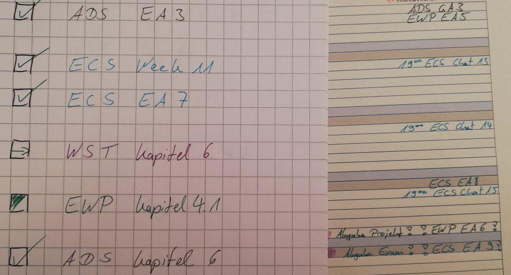Semester 5 - Planung